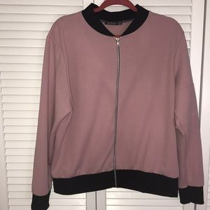 Mauve light weight jacket